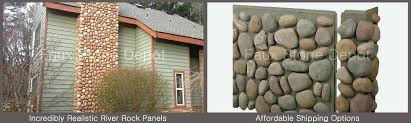 faux stone panels brick stacked veneer siding in plan river rock wall cladding