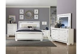 Allura White 4PC Queen Bedroom Set