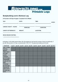 inspirational of blank workout log template effective calendar templates lab bodybuilding forums triathlon pdf weight