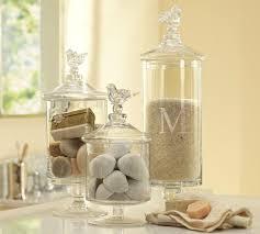 pottery barn decorative glass jars for bathrooms pottery barn furniture