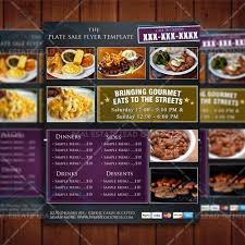 The Plate Sale Flyer Template Fundraiser Flyer Template