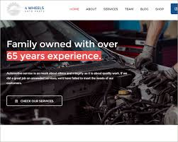 auto parts website template car dealer website themes templates free premium creative