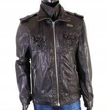 Superdry Jacket Size Chart Details About T Superdry Mens Leather Jacket Epaulets Size Xl