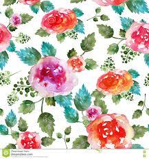 Uitstekend Bloemen Naadloos Patroon Met Roze Bloemen En Blad Druk