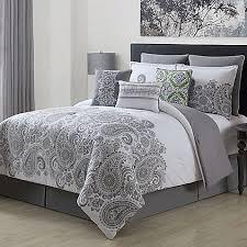 mona 9 piece comforter set in grey