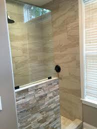 half wall shower glass glass enclosures home interior half wall shower enclosure stupefy pivot enclosures doors