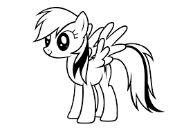 Small Picture My Little Pony Rainbow Dash coloring pages for kids printable free