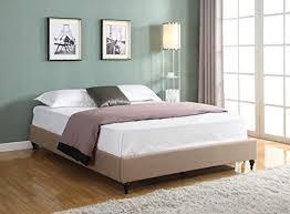Amazing Deal Sutton Tufted Linen Platform Bed Grey  FullLinen Platform Bed