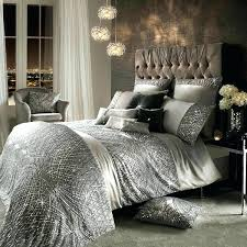 purple and silver bedding
