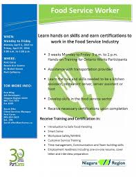 port cares food service worker training now at port cares food service worker flyer 8 2016