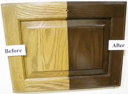 Updating Oak Kitchen Cabinets Refinishing Oak Kitchen Cabinets Before And After