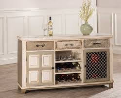 wine rack console table. Hillsdale LaRose Console Table With 2 Door Storage And Wine Rack - Handpainted White/Gray M