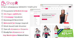 Free Ecommerce Website Templates Mesmerizing ShopR ECommerce HTML Template By UIdeck ThemeForest