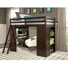 lofted twin bed with desk twin loft bed with desk storage tower espresso kids teen rooms