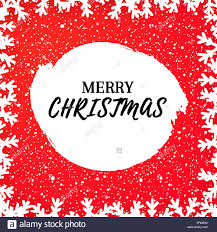 Christmas Greeting Card Template With Falling Snow And