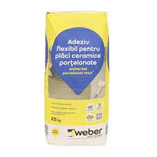 Adeziv flexibil placari ceramice si portelanate, interior/exterior, Weber,  gri, 25 kg