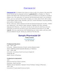Job Opportunities Pharmacist Cv Pics Cover Letter Resume Sample