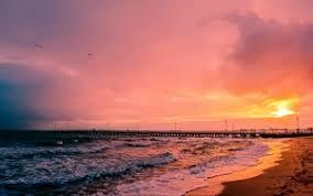 preview wallpaper sunset sea sun landscape