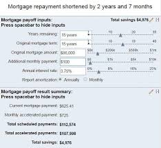 Mortgage Calculator Sample Mortgage Payment Calculator From