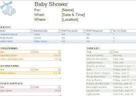 baby shower spreadsheet baby shower checklist baby shower planning checklist