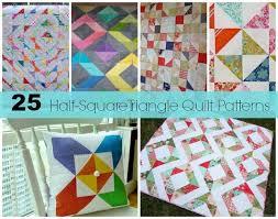 25 Half-Square Triangles Free Quilting Patterns | Half square ... & 25 Half-Square Triangle Quilts and a bunch more tutorials Adamdwight.com