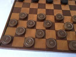 antique régence chess set and checkers set including antique board