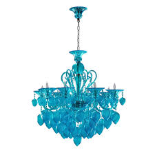 cyan design 04618 chianti 8 light chandelier in aqua