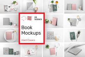 Showcase your design easily and effectively with these freebies. Book Cover Mockups Hardcover In Product Mockups On Yellow Images Creative Store