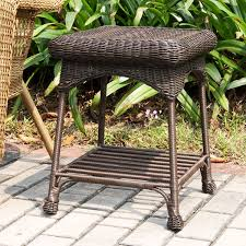 Amazon Jeco Wicker Patio End Table in Espresso Patio Side