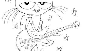 Pete The Cat Coloring Pages The Cat Coloring Page The Cat Coloring