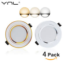 How To Change Recessed Led Light Us 12 32 30 Off 4pcs Led Down Light Changeable 3w Ceiling Recessed Light With Driver 3 Color Change Warm White Nature White Cool White In Downlights