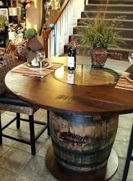 11 wine barrel dining room table wine barrel dining room table wooden barrel table large size