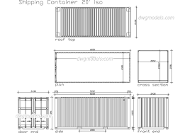 Shipping Container - CAD Blocks, free dwg file. | Plan_B ...
