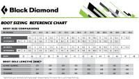 Black Diamond Ski Boots Size Chart Ladies Ski Boot Size Chart Snowboard Boot Sizes