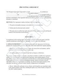 prenup samples prenuptial agreement form with sample prenup what to include in a