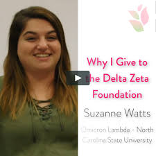 Why I Give to the Delta Zeta Foundation - Suzanne Watts on Vimeo
