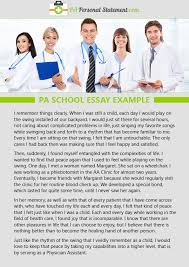 physician assistant personal statement example pa school personal statement example pa school essay example