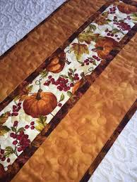 37 best images about Table runners on Pinterest   Snowflakes ... & Fall Autumn Table Runner Quilt, Thanksgiving , Orange, Pumpkin Decor,  Leaves Table Runner Adamdwight.com