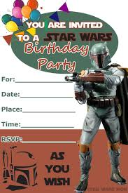 018 Star Wars Birthday Party Invitation Template Ideas