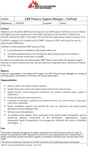 Erp Finance Support Manager F M Unifield Pdf Free Download
