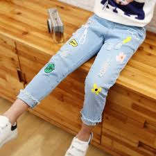 New With Tag Floral Print Girls Jeans