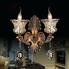 wall mount chandeliers vintage copper color wall light crystal wall sconce garden indoor outdoor wall mount