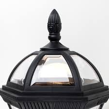 traditional style black clear outdoor security ip44 rated wall light lantern