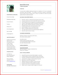 Fresh Accounting Job Resume Format Mailing Format