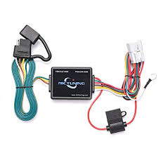 amazon com mictuning 7ft trailer wiring harness with 4 pin flat 2013 subaru outback trailer wiring harness at Trailer Wiring Harness Subaru Outback