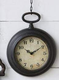 small pocket watch on chain clock