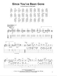 since you been gone sheet music since youve been gone by rainbow easy guitar tab guitar instructor
