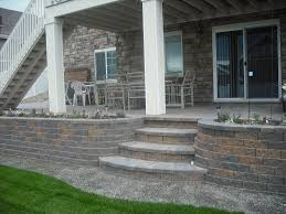 Exterior:Rustic Wooden Exterior Stair Railing Ideas For Covered Backyard Deck  Design Interesting Outdoor Pavers