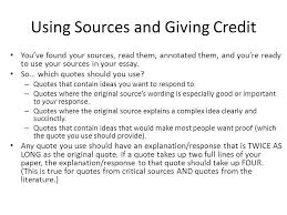 integrating sources choosing quotations and ldquo quote sandwiches 3 using