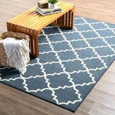 5x7 outdoor rug 5 rug clay alder home fancy trellis navy rug and rug pad set